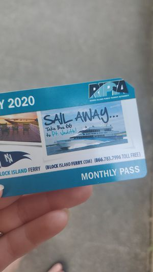 July RIPTA MONTHLY CARD for Sale in Pawtucket, RI
