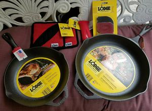 LODGE Chef Collection Cast Iron 10 & 12 Inch Skillets & more for Sale in Burbank, CA