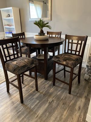 Reupholstered High Table and 4 Chairs for Sale in Charlotte, NC