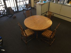 Antique Amish HandMade Solid Wood Table And 4 Chairs Incredible Craftsmanship for Sale in Phoenix, AZ