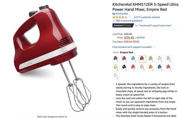 Kitchen Aid Hand mixer