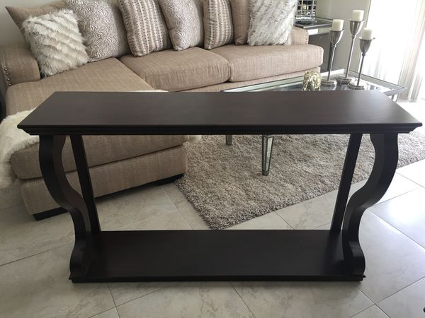 55 Inch Wooden Console Tabletv Tablesofa Table For Sale In Miami