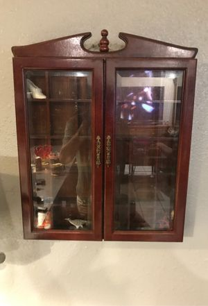 20 inches tall by 16 inches wide antique display cabinet for Sale in Austin, TX
