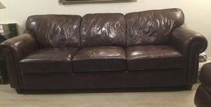 Bassett leather sofa for Sale in Bend, OR