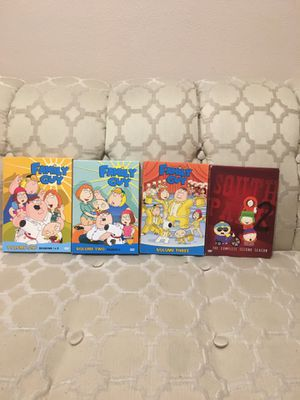 3 seasons of family guy and 1 season of South Park for Sale in Las Vegas, NV
