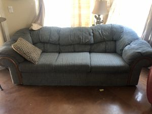 Blue cloth couch for Sale in Littleton, CO