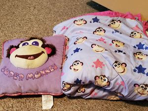 Monkey Pillow and Blanket for Sale in West Harrison, IN