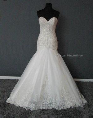 Mermaid ivory wedding dress size 14 for Sale in Cincinnati, OH