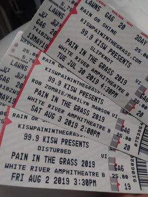 Pain in the grass tickets for Sale in Aberdeen, WA