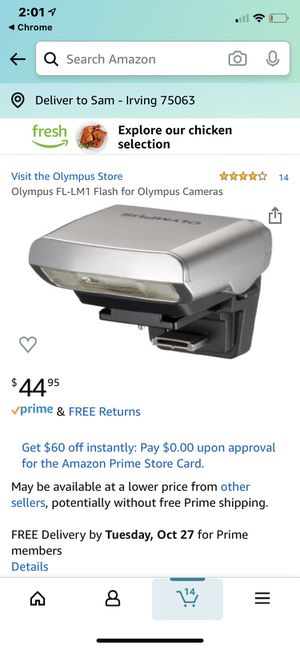 Olympus FL-LM1 Flash for Olympic Cameras for Sale in Scottsdale, AZ