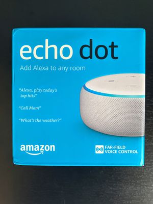 Amazon Echo Dot 3rd Gen Brand New In Box Sandstone & Heather Gray for Sale in Bellevue, WA