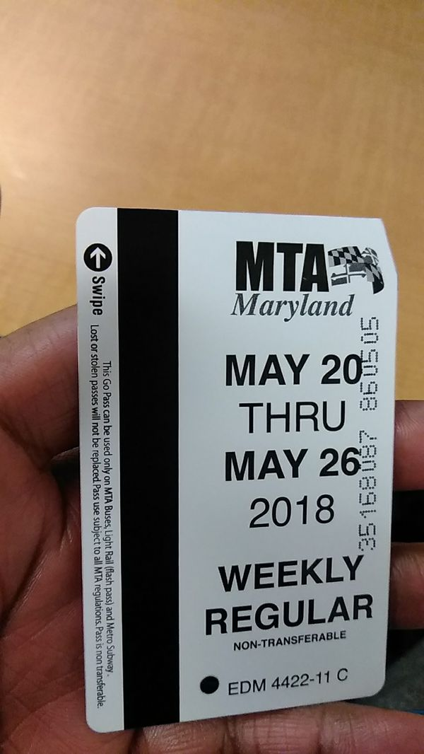 Weekly bus pass