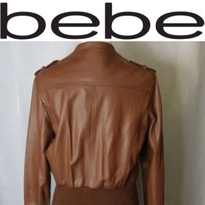 Bebe 2B Bomber Jacket in Tan Camel Brown Size Medium for Sale in Denver, CO