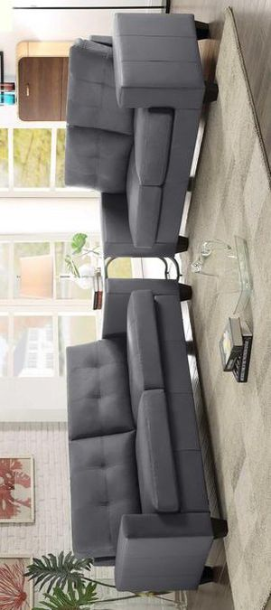 Etna Gray Contemporary Sofa & Loveseat for Sale in Brooklyn Park, MD