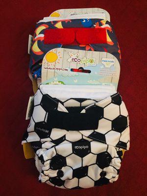 Pañal Ecopipo traído desde Mexico con tres insertos cada uno talla única es para bebés de 8 a 35 libras for Sale in Rockville, MD