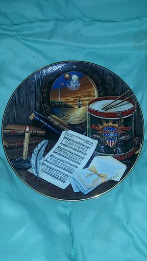 Star Spangled Banner collector's plate for Sale in Prattville, AL