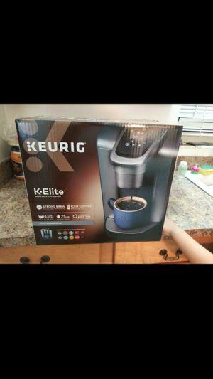 Brand new Keurig K-elite brushed silver coffermaker 90$ or better offer for Sale in Port St. Lucie, FL