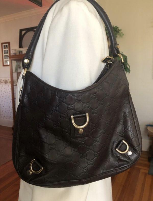 Gucci Island Abby Guccissima Brown Leather Hobo Bag