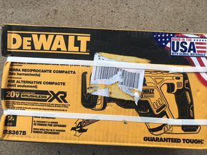 DEWALT 20-Volt MAX XR Lithium-Ion Cordless Brushless Compact Reciprocating Saw (Tool-Only) for Sale in Chandler, AZ