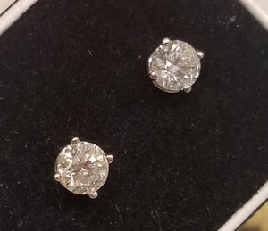 14k gold studs diamond earrings white gold with screws 1.50 ctw for Sale in Fort Lauderdale, FL