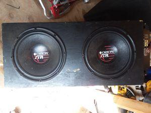 "Box speaker( Orion xtr 12""500 wats each and concept amp$200 or best offer for Sale in Harrisonburg, VA"