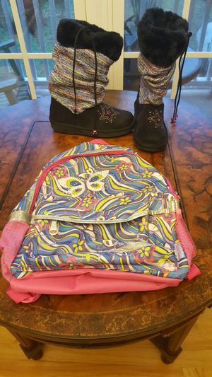 New Girls Twinkle Toes Boots And New Twinkle Toes Bookbag Please Read all for Sale in Chesnee, SC
