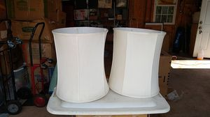 Set silk shantung lamp shades white for Sale in Washington, DC