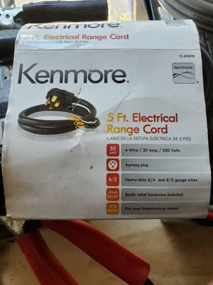 Kenmore 50 AMP 4-Prong/Wire 5' Round Power Supply Range Cord for Sale in Chicago, IL