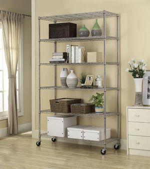 48X18X82 6 Tier Shelf Adjustable black or silver Wire Metal Shelving Rack for Sale in Alexandria, VA