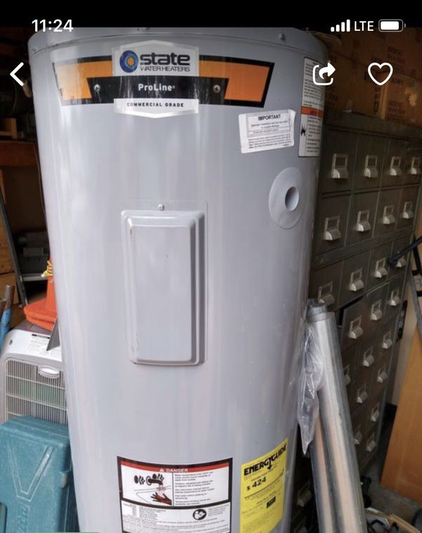 WATER HEATER STATE PRO-LINE 50 GALLON ....ELECTRIC...... Manufactured 2019 AMAZING DEAL !