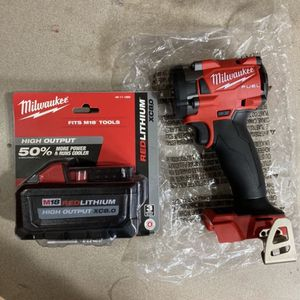 """Milwaukee M18 Fuel 3/8"""" Compact Impact Wrench And 8.0 Batt for Sale in Philadelphia, PA"""