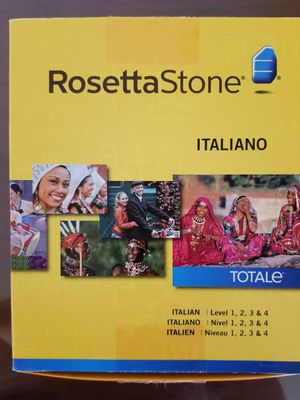 Rosetta Stone Italian Levels 1-4 Brand New for Sale in Plymouth, CT