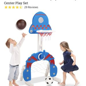 3-in-1 Toddler Basketball Hoop Sports Activity Center Play Set for Sale in Cleveland, OH