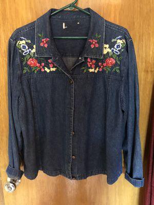 Flowers design denim jacket for Sale in Wichita, KS