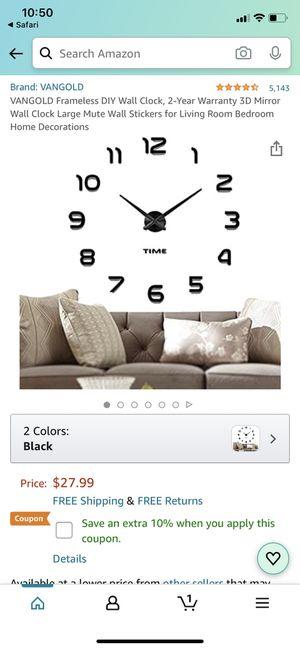 VANGOLD Frameless DIY Wall Clock *BRAND NEW for Sale in San Leandro, CA