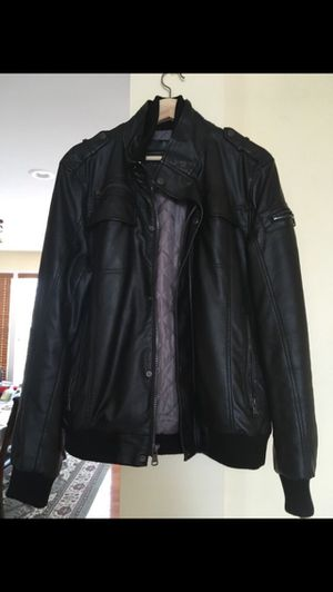 Calvinklein men's leather jacket (small) for Sale in Herndon, VA