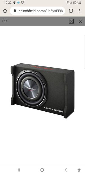 "10"" pioneer shallow subwoofer TS-SWX2502 for Sale in Washington, DC"