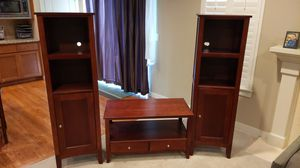 Cherry Wood coffee table and bookshelves for Sale in Redmond, WA