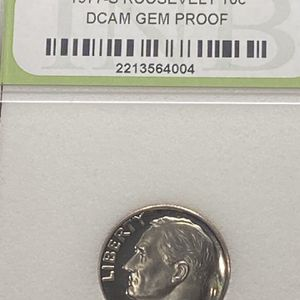 1977-S Roosevelt Dime Type II S DCAM GEM PROOF for Sale in Plainfield, IL