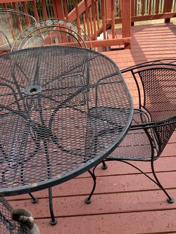 7-Piece Wrought Iron Patio Set for Sale in Clifton,  VA