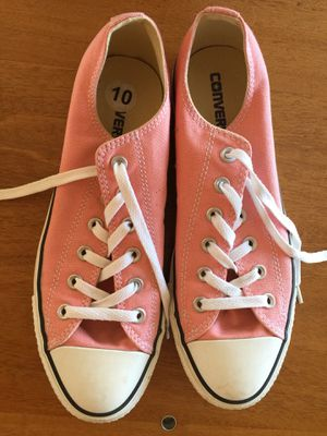 Pink Converse Tennis Shoes-10M women's for Sale in San Francisco, CA
