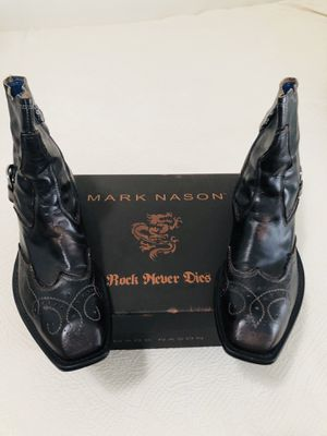 Mark Nason ,Rock Never Dies Boots made in Italy almost New (size11) leather inside to small for me ready to go!!!! for Sale in Gardena, CA
