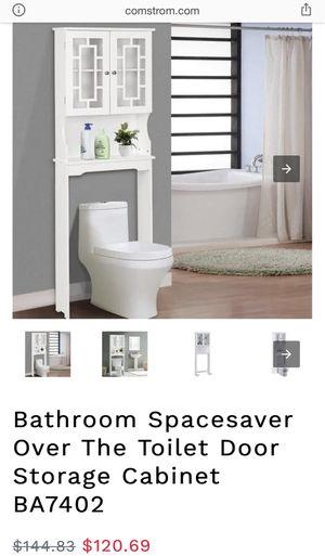 Bathroom Spacesaver Over The Toilet Door Storage Cabinet for Sale in Riverside, CA