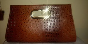 Beautiful Faux leather Ostrich Clutch. for Sale in Snellville, GA
