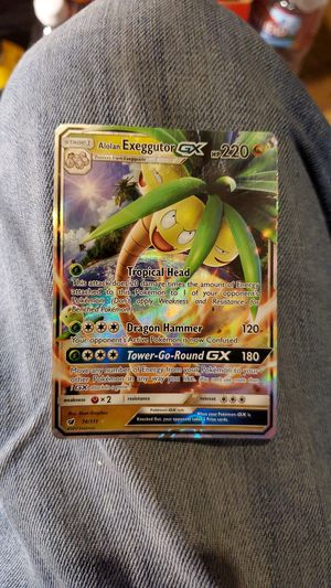 Ultra Rare Alolan Exeggutor GX PoKeMon card for Sale in Hayward, CA