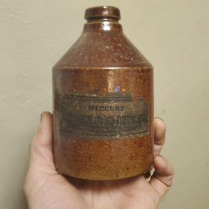 RARE Mercury stoneware Bottle/jug W/Paper Label for Sale in Columbus, OH