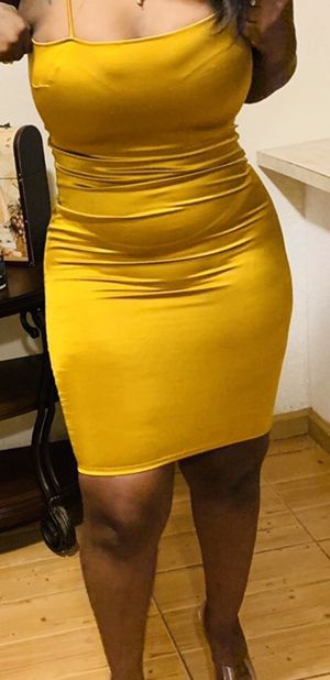 Diva boutique gold spandex dress for Sale in West Palm Beach, FL