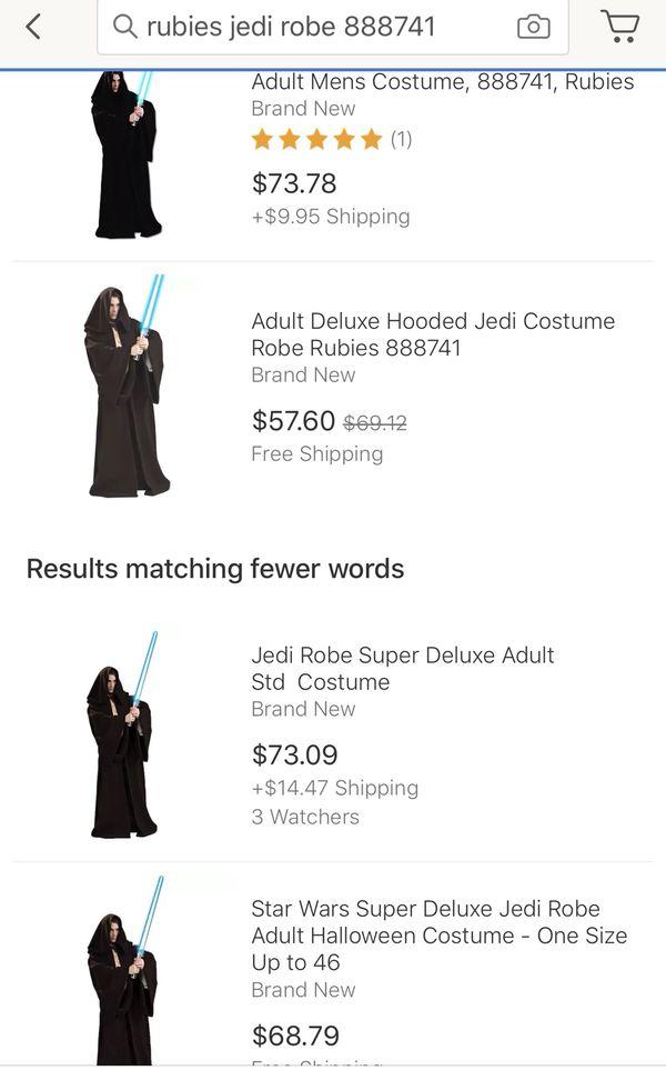 Rubies 888741 Star Wars Super Deluxe Jedi Robe Adult Mens Costume