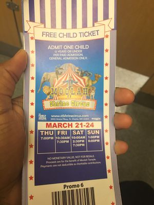 16 Free Kids Circus Tickets for sell !!! for Sale in St. Louis, MO