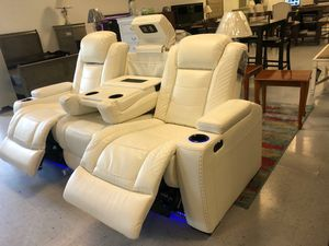 Party Time White LED Power Reclining Sofa New 🍀 for Sale in Columbia, MD